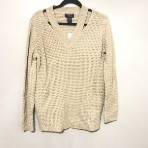 Hooked Up by IOTsmal Womens Chunky Knit Sweater be